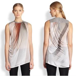 Helmut Lang leather tank